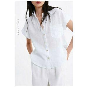White Zara Button Blouse
